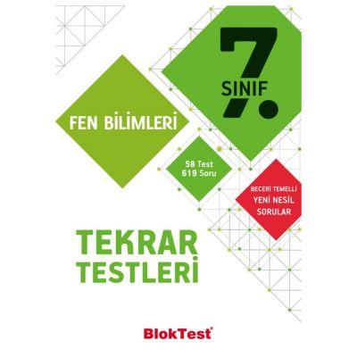7.Sınıf Fen Bilimleri Tekrar Testleri Blok Test Yayınları