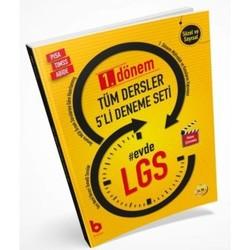 Basamak Yayınları - 8. Sınıf 1. Dönem LGS Tüm Dersler 5 li Deneme Seti Basamak Yayınları