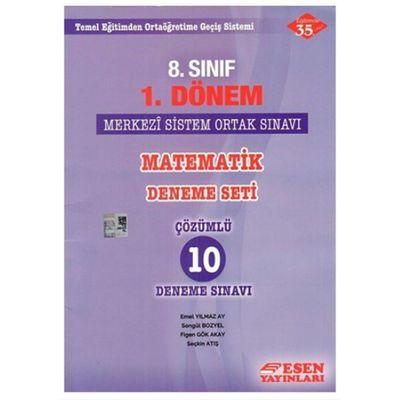 8. Sınıf 1.Dönem Matematik Çözümlü 10 Deneme Seti Esen Yayınları