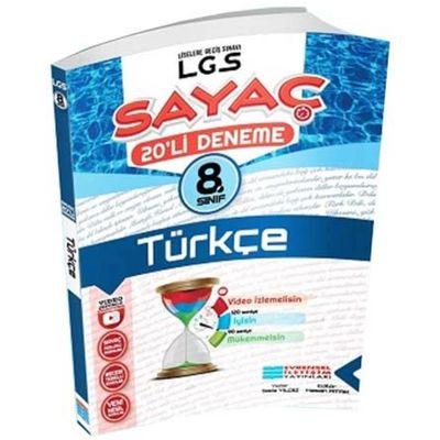 8. Sınıf LGS Türkçe Sayaç Video Çözümlü 20 li Deneme Evrensel İletişim Yayınları