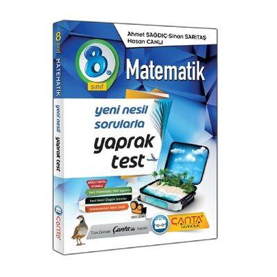 8. Sınıf Matematik Yaprak Test Çanta Yayınları