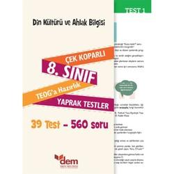 Dem Yayınları - 8. Sınıf TEOG Din Kültürü ve Ahlak Bilgisi Çek Koparlı Yaprak Testler