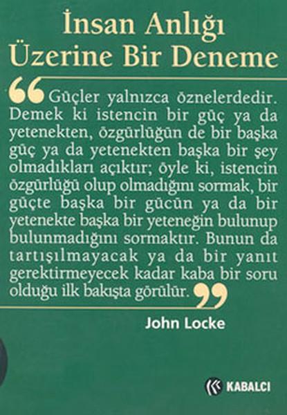 Locke – İnsan Anlığı Üzerine