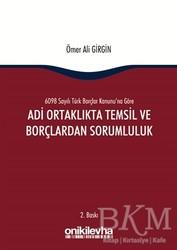 On İki Levha Yayınları - Adi Ortaklıkta Temsil ve Borçlardan Sorumluluk