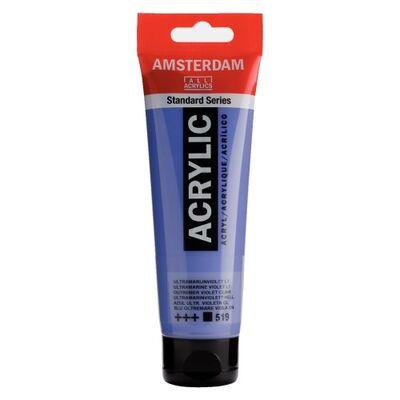 Amsterdam Akrilik Boya 120 Ml Ultramarine Violet Light 519