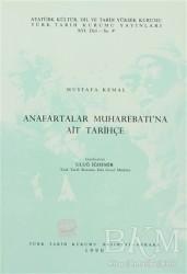 Türk Tarih Kurumu Yayınları - Anafartalar Muharebatı'na Ait Tarihçe