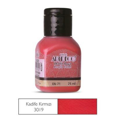 Artdeco Akrilik Boya 25ml Kadife Kırmızı 3019