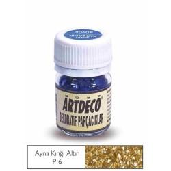 Artdeco - Artdeco Dekoratif Parçacık 25ml Ayna Kırığı Altın P6