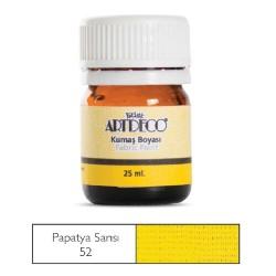 Artdeco - Artdeco Kumaş Boyası 25ml Papatya Sarısı 52