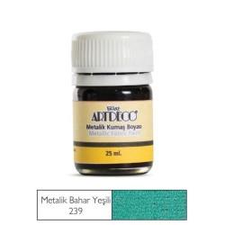 Artdeco - Artdeco Metalik Kumaş Boyası 25ml Bahar Yeşili 239