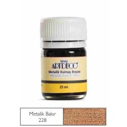 Artdeco - Artdeco Metalik Kumaş Boyası 25ml Bakır 228