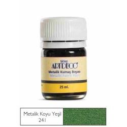 Artdeco - Artdeco Metalik Kumaş Boyası 25ml Koyu Yeşil 241