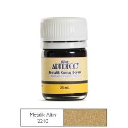 Artdeco - Artdeco Metalik Kumaş Boyası 25ml Metalik Altın 221