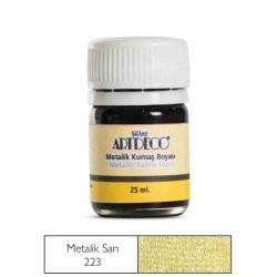 Artdeco - Artdeco Metalik Kumaş Boyası 25ml Sarı 223