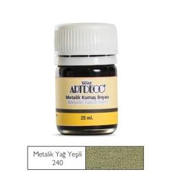 Artdeco - Artdeco Metalik Kumaş Boyası 25ml Yağ Yeşili 240