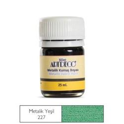 Artdeco - Artdeco Metalik Kumaş Boyası 25ml Yeşil 227