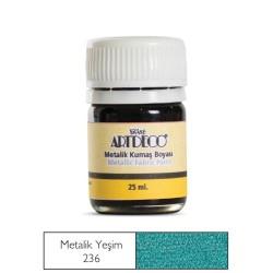 Artdeco - Artdeco Metalik Kumaş Boyası 25ml Yeşim 236