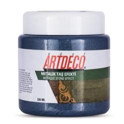 Artdeco - Artdeco Metalik Taş Efekti 220ml Mavi 2009