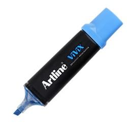 Artline - Artline Vivix Parlak Mürekkepli Fosforlu Kalem Kesik Uç 2.0-5.0mm Açık Mavi