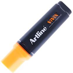 Artline - Artline Vivix Parlak Mürekkepli Fosforlu Kalem Kesik Uç 2.0-5.0mm F.Turuncu