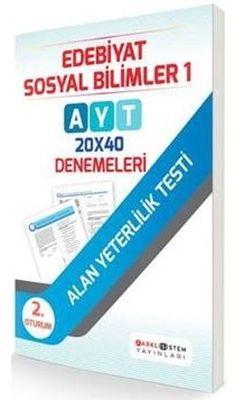 AYT Edebiyat Sosyal Bilimler 1 20x40 Denemeleri Farklı Sistem Yayınları