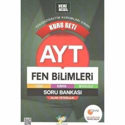 Fdd Yayınları - AYT Fen Bilimleri Kurs Seti Soru Bankası FDD Yayınları