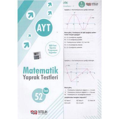 AYT Matematik 52 Yaprak Test Nitelik Yayınları