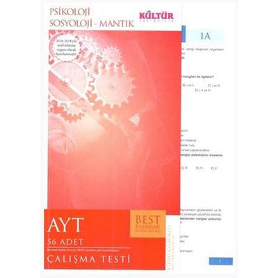 AYT Psikoloji Sosyoloji Mantık BEST Çalışma Testi Kültür Yayıncılık