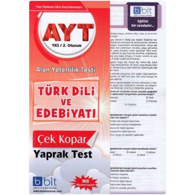 AYT Türk Dili ve Edebiyatı Çek Kopar Yaprak Test Bulut Eğitim Yayınları