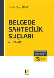 Adalet Yayınevi - Ders Kitapları - Belgede Sahtecilik Suçları