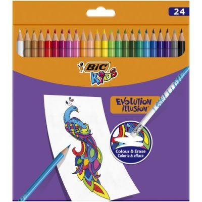 Bic Kids Evolution Silinebilir Kuru Boya Kalemi Kutu 24 Renk