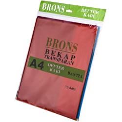 Brons - Brons Hazır Defter Kabı A4 Renkli 10lu