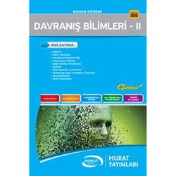 Murat Yayınları - Davranış Bilimleri II (Kod:5020) Murat Yayınları