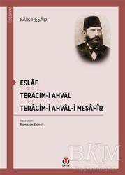 DBY Yayınları - Eslaf - Teracim-i Ahval - Tercim-i Ahval-ı Meşahir