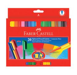 Faber-Castell - Faber-Castell 112000 Eğlenceli Keçeli Kalem 20li