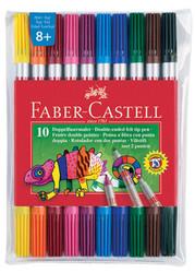 FABER-CASTELL - Faber-Castell Çift Uçlu Keçeli Kalem,10 Renk - 5068151110