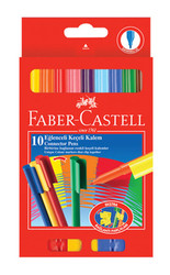 FABER-CASTELL - Faber-Castell Eglenceli Keçeli Kalem,10 Lu Poset - 5068111500