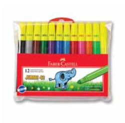 Faber-Castell - Faber-Castell Jumbi-Neon Floresan Markör, 12 Li Poset - 5068031242