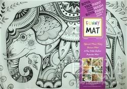 Akademi Çocuk - Funny Mat - Funny Mat 1002 Fil Mandala