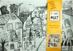 Akademi Çocuk - Funny Mat - Funny Mat 1003 Kedili Sokak