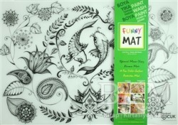 Akademi Çocuk - Funny Mat - Funny Mat 1006 Çiçekli Bahçe Mandala