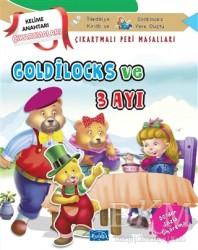 Parıltı Yayınları Boyama ve Çıkartma Kitapları - Goldilocks ve Üç Ayı - Çıkartmalı Peri Masalları