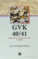 Gazi Kitabevi - GVK40/41 İndirilecek-İndirilemeyecek Giderler