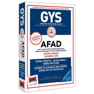 GYS AFAD Eğitim Uzmanı Kadrosu İçin Konu Özetli Çıkmış ve Çıkması Muhtemel Sorular Yargı Yayınları