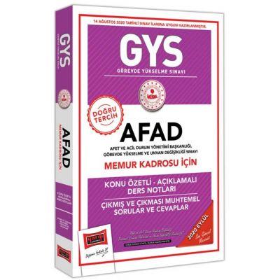 GYS AFAD Memur Kadrosu İçin Konu Özetli Çıkmış ve Çıkması Muhtemel Sorular Yargı Yayınları