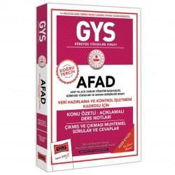 Yargı Yayınları - GYS AFAD Veri Hazırlama ve Kontrol İşletmeni Kadrosu İçin Konu Özetli Çıkmış ve Çıkması Muhtemel Sorular Yargı Yayınları