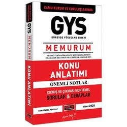 Yargı Yayınları - GYS Kamu Kurum ve Kuruluşlarında MEMURUM Konu Anlatımı Yargı Yayınları