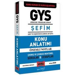 Yargı Yayınları - GYS Kamu Kurum ve Kuruluşlarında ŞEFİM Konu Anlatımı Yargı Yayınları