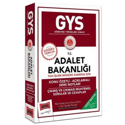 GYS T.C. Adalet Bakanlığı Yazı İşleri Müdürü Kadrosu İçin Konu Özetli Açıklamalı Ders Notları Yargı Yayınları