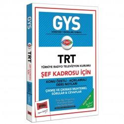 Yargı Yayınları - GYS TRT Şef Kadrosu İçin Konu Özetli Çıkmış ve Çıkması Muhtemel Sorular Yargı Yayınları
